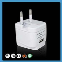 Top Quality For UK USA Europe AU World Multipurpose Multi Travel Adaptor With 2 USB Charger