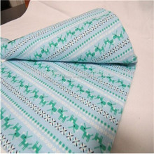 Brushed striped cotton flannel quilted fabric for baby urine mat from hebei of China