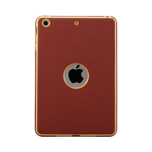 China custom 2 in 1 leather case for iPad mini,TPU+PU plating leather case cover