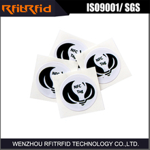 13.56Mhz Rfid Sticker Tag Cheap/Ntag 215 Nfc Tag Price/Small NFC Tag