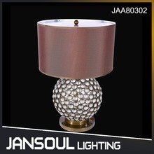 JANSOUL modern circle flower ball home goods crystal table lamps