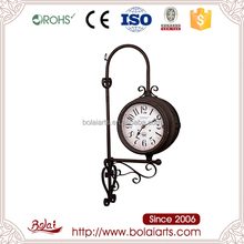 Do old iron material unique design double side clock wholesale art and craft supplies