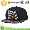 2015 OEM Wholesale 3D Embroidered Colorful Flat Brim Cotton Snapback Baseball Hat/Caps