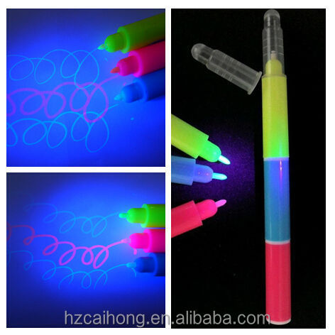 invisible ink marker pen with uv light keychain blister card set, UV marker with lamp&Promotional pen gifts for kids CH-6001
