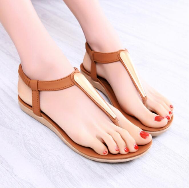 zm52808a hot sale high quality flat sandals for ladies pictures
