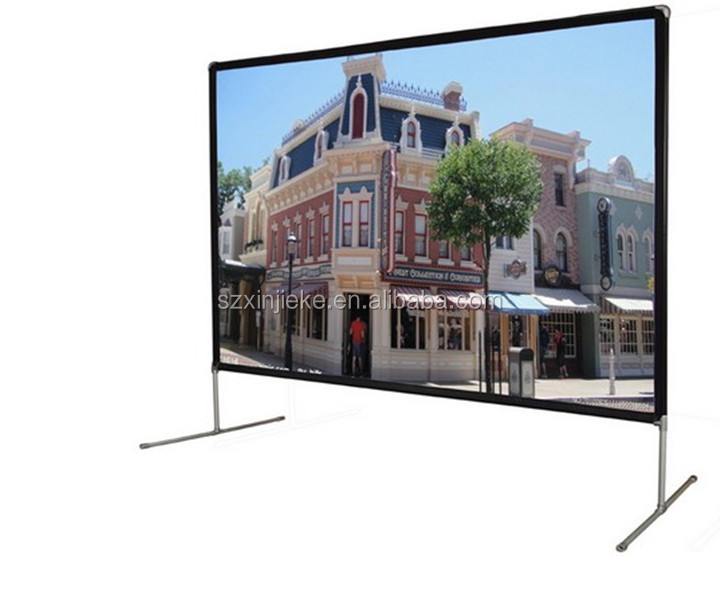 Video Projector Screen Fast Folding Style Install Fast Projection Screen Cinema Cheap Price