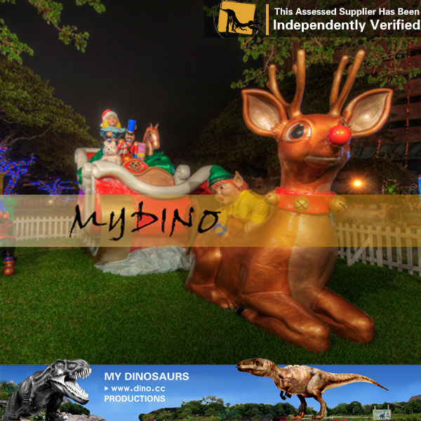 My dino-character outdoor christmas decoration for amusement park indoor amusement park