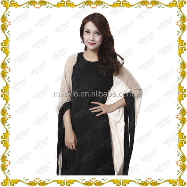 MF23562 wholesale simple black abaya in 2014 new design
