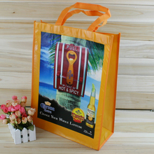 Supermarket wine promotional recycled pp laminated non woven bag