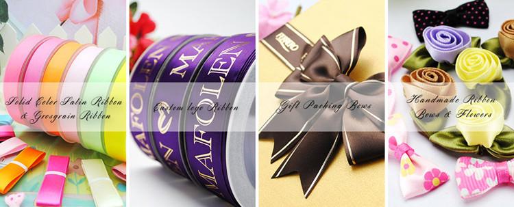 silk polyester ribbon elastic ribbon bow pre-made bow