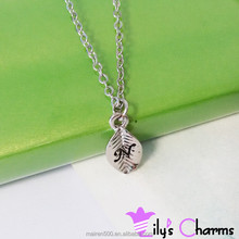 Wholesale cheap unique design alphabet letter initial disc necklace