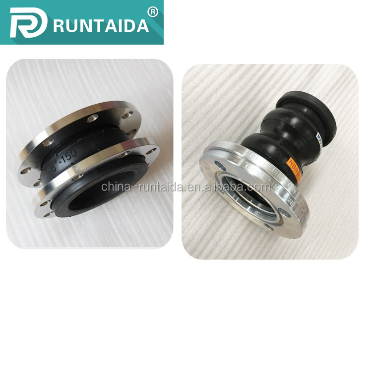 Factory supplies flanged end reduced rubber joint