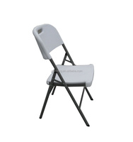 blow molded HDPE white plastic folding chair