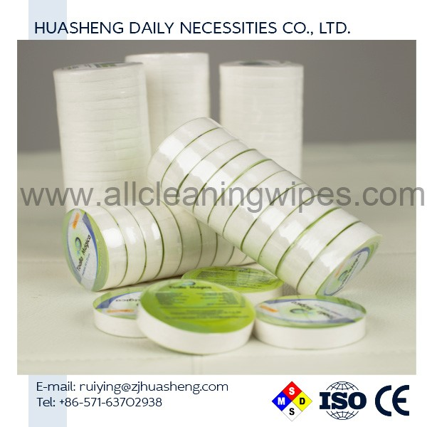 4.5cm DIA compressed towels HS5372 Biodegradable, round compressed cloth