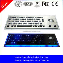 Wired metal backlit keyboard with trackball