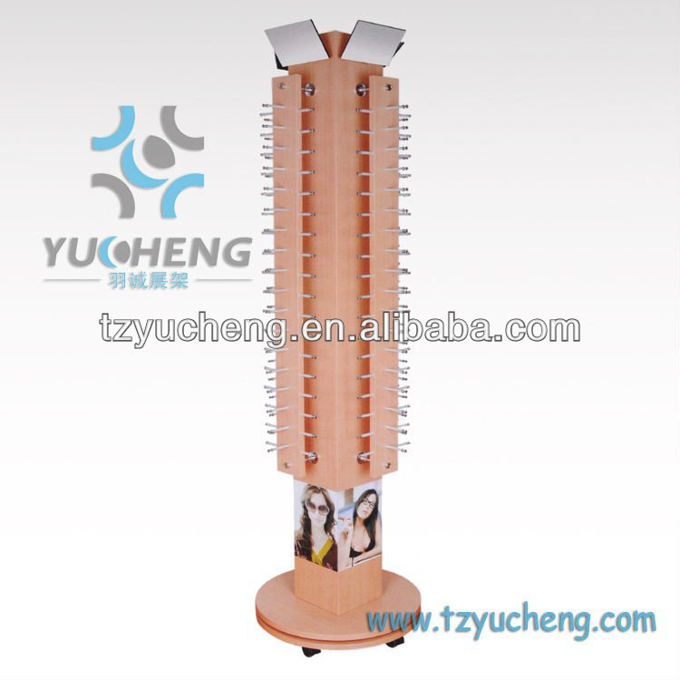 [YUCHENG] Wooden Eyeglass Display Stands With 4-sides Y810