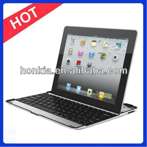 Aluminum Bluetooth Wireless Keyboard with Mutifuction Languages for Ipad3