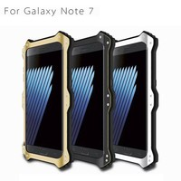 Brand love mei Metal cell phone case for samsung note7 hard back cover Shock-proof