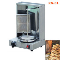 Single Burner Vertical Broiler Equipment Doner Kebab Making Machine Chicken Grill Gas Shawarma Machine