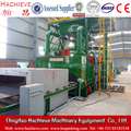 Steel plate sand blasting cleaning production line for paint remover machine