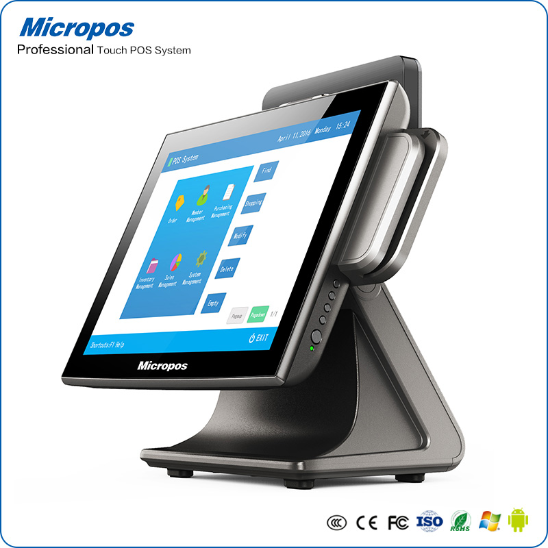 Micropos B15-II True-flat display Capacitive touch cash register new smart electronic device for Windows 10 pro