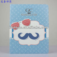 FL2818 2013 Guangzhou hot selling beard wallet leather flip case for ipad 4