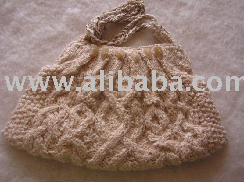 Knitted Mohair Handbag