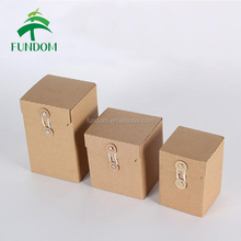 alibaba bulk cheap wholesale die cut handle kraft paper gift tea box with transparent window