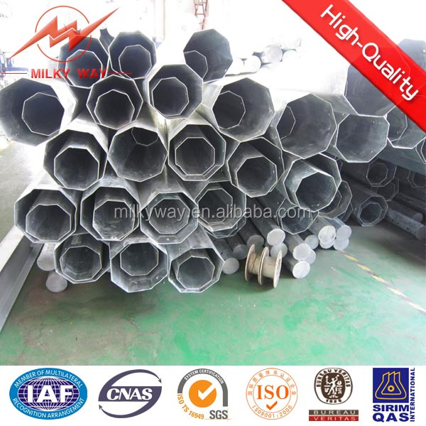 ISO 3mm Thickness Multi Side 10m steel gate pole factory