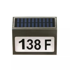 Led solar landscape lights house fence number signs solar powered address lights
