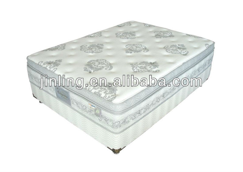 Deluxe pocket coil spring mattress with memory foam topper