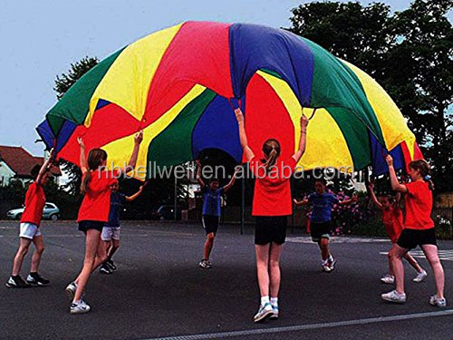 12feet Rainbow Parachute With Handles For Back Yard Game