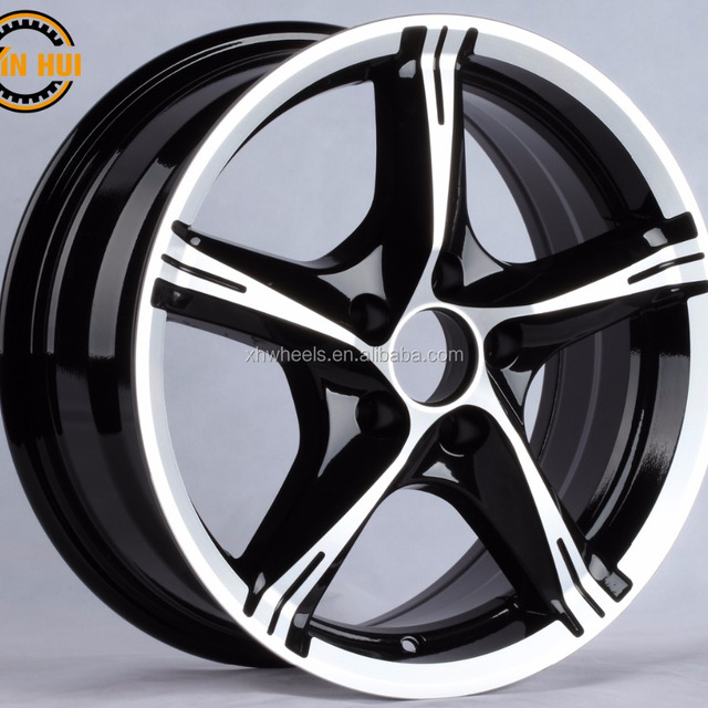 BLACK MACHINE FACE alloy wheel 14 15 16 17 inch wheel rim