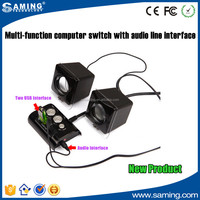 High Quality Multifunction Ethernet Controlled Power Switch with 2 USB Hub and 1 Audio slot