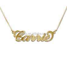 18k Gold Plated Angel Name Necklace Jewelry Custom Plated Over Stainless Steel Nameplate Necklace