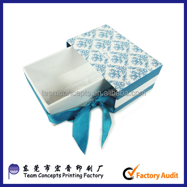 Laminated paperboard slide box gift packaging