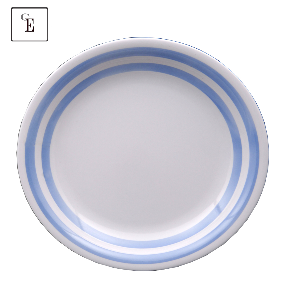 Wholesale melamine Rice Salad Side Snack portion Plates with logo