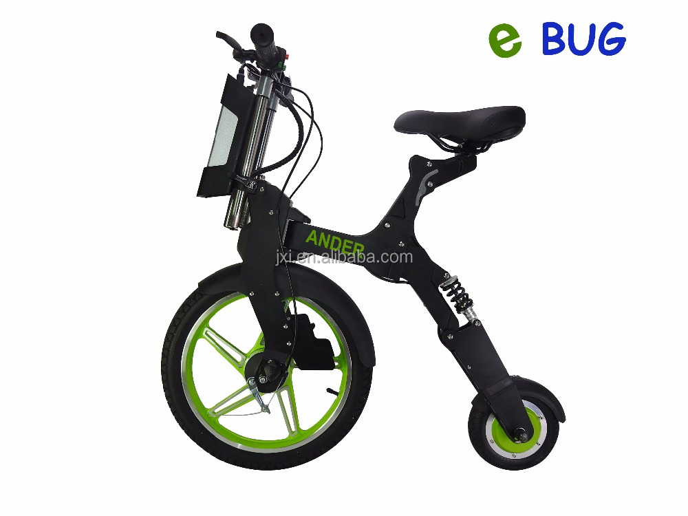 ANDER design big front wheel electric folding bike for sale
