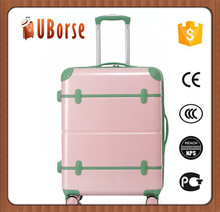 Hot Selling 3 pieces pink suitcase travel vintage Luggage for girls