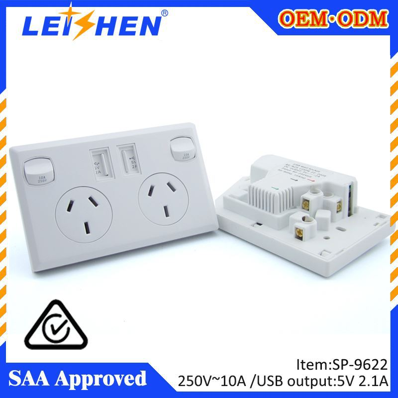 5% discount best quality usb charger electric socket outlet