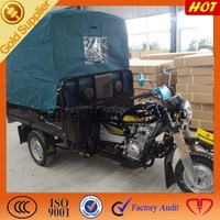 2015 high quality 3 wheeled cargo tricycle with roof /hot sell cargo motorcycle in Angola