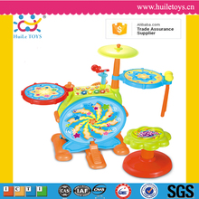 Educational toys kid dynamic jazz drums toys musical knock instrument, baby beat plastic toy drum set for toddlers