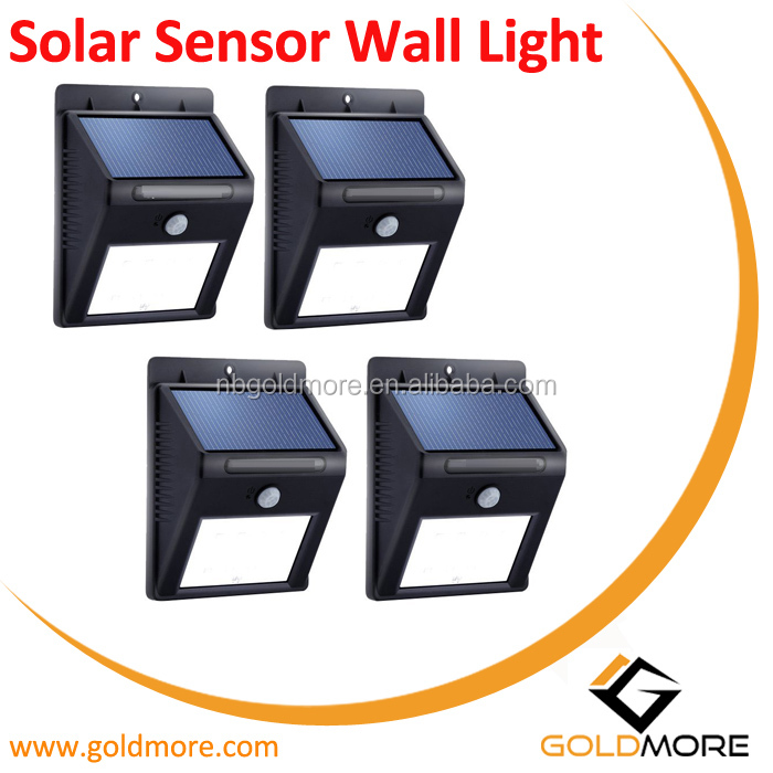 Goldmore1 Outdoor Garden Night Safety Waterproof IP65 Sensor SMD LED Wall Solar Light
