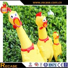 PVC Shrilling Toy ,Yellow Chicken Pet Toys Rubber Chicken
