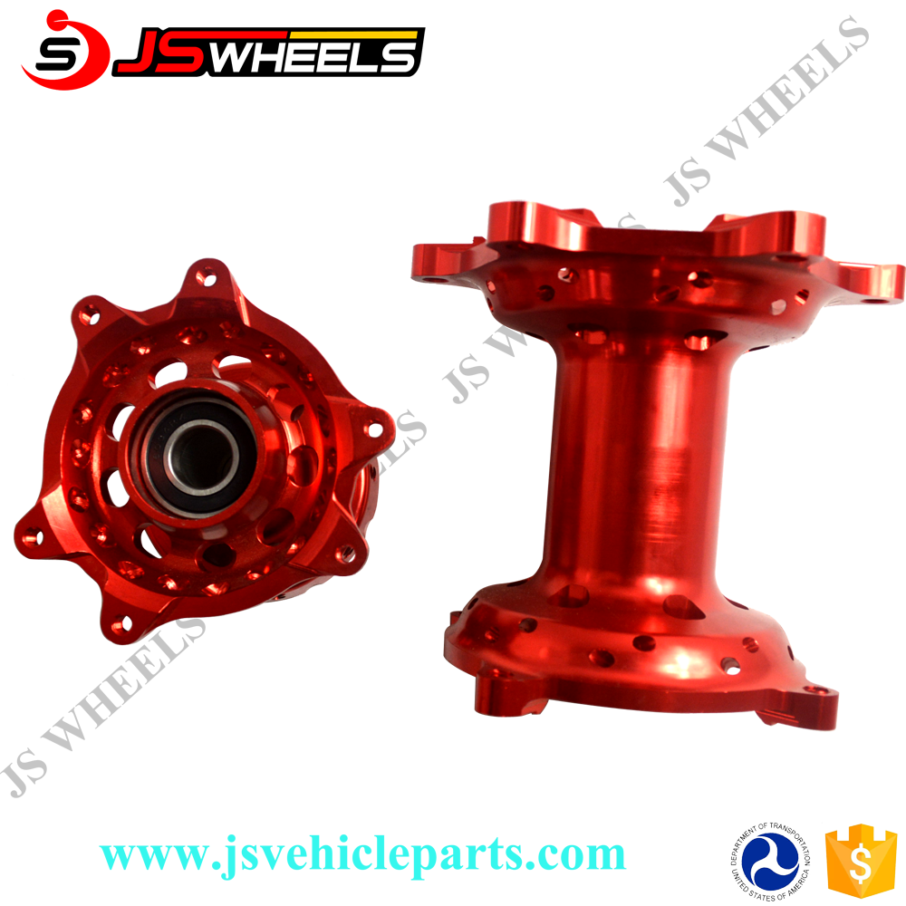 JS Vehicleparts Top Seller Off Road Pit Bike&Dirt Bike Wheel Red Front and Rear CNC Hub