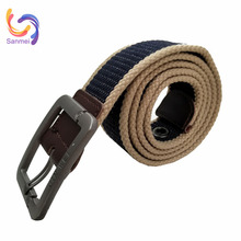 3.8cm Width Heavy Duty Polyester Cotton Web Fabric Military Canvas Waist Belt, Fabric Plain Canvas Belt