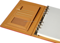 High quality ring binders/plastic pocket notebook with pen