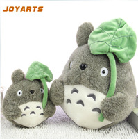 1pcs 25cm Japane anime my neighbor totoro plush doll stuffed toys totoro with lotus leaf totoro plush toys for kids gifts