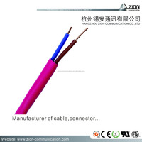 FRLS Unshielded 2 Cores Bare Copper Conductor with 5.00mm FRLS Jacket Fire Resistant Cable
