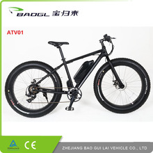 2017 full suspension mid drive bafang motor 350w fat tire mountain fat bike electric